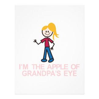 Im the Apple Of Grandpas Eye Letterhead