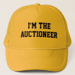 """I&#39;M THE AUCTIONEER Hat<br><div class=""""desc"""">&quot;I&#39;M THE AUCTIONEER&quot; text. Let everyone at the auction or event know right away that you&#39;re the auctioneer!</div>"""