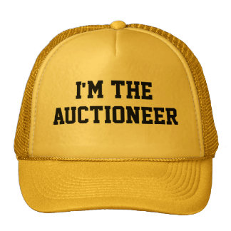 I'M THE AUCTIONEER Hat