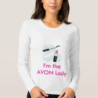 I'm the AVON Lady Fitted Long Sleeve Tshirts