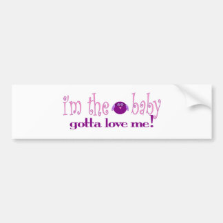 I'm the baby love me (pink) bumper stickers