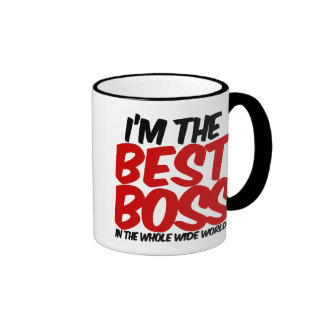 im the best boss in the whole wide world ringer coffee mug