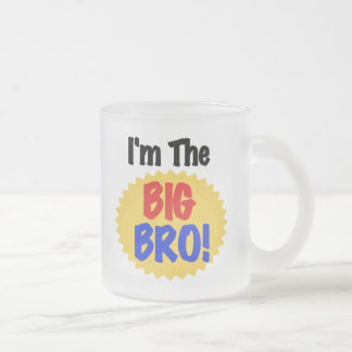 I'm the Big Bro Text Tshirts and Gifts 10 Oz Frosted Glass Coffee Mug