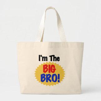 I'm the Big Bro Text Tshirts and Gifts Jumbo Tote Bag