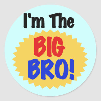 I'm the Big Bro Text Tshirts and Gifts Classic Round Sticker