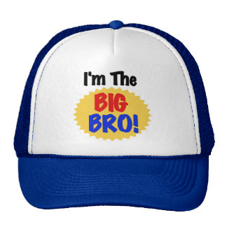 I'm the Big Bro Text Tshirts and Gifts Trucker Hat