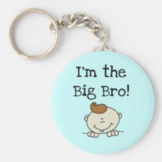 I'm the Big Bro Tshirts and Gifts Basic Round Button Keychain