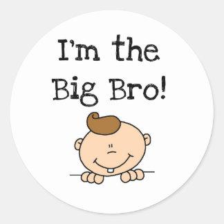 I'm the Big Bro Tshirts and Gifts Classic Round Sticker