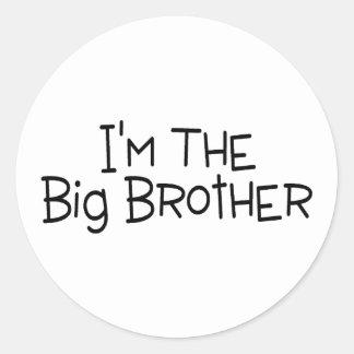 Im The Big Brother 2 Classic Round Sticker