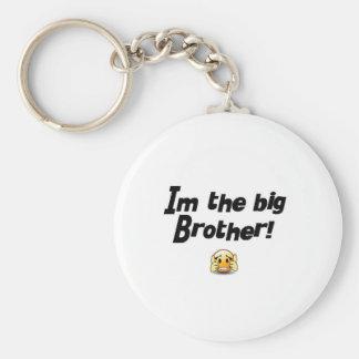 Im the big brother basic round button keychain