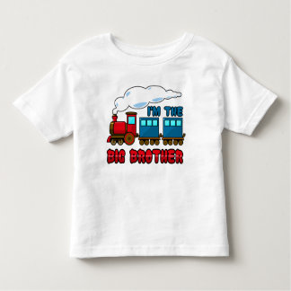 i'm the big brother cartoon train toddler t-shirt
