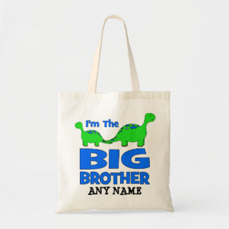 I'm the BIG Brother! Custom Dinosaur Design Tote Bag