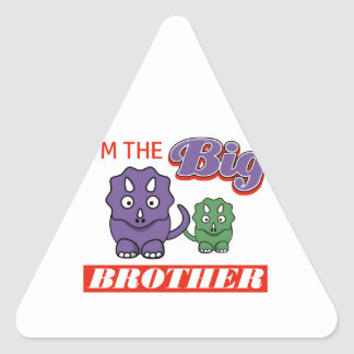 I'm the Big Brother designs Triangle Sticker
