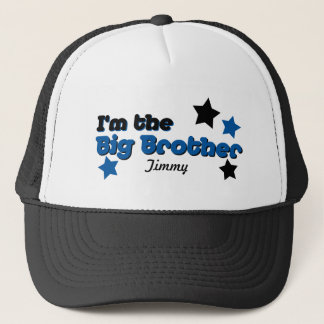 I'm The Big Brother In Blue & Black Trucker Hat