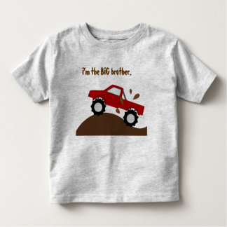 I'm The Big Brother Red Monster Truck Toddler T-shirt