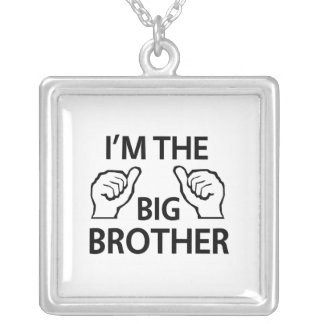 I'm the Big Brother Square Pendant Necklace