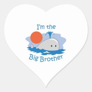 IM THE BIG BROTHER HEART STICKER