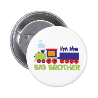 I'm the Big Brother Train T-shirt Button