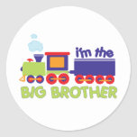 I'm the Big Brother Train T-shirt Classic Round Sticker