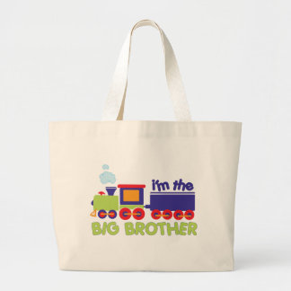 I'm the Big Brother Train T-shirt Large Tote Bag