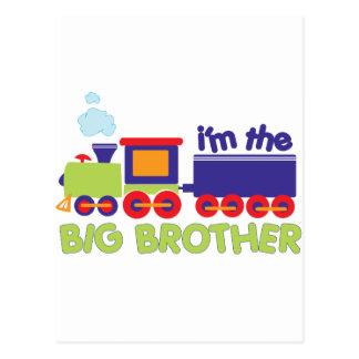 I'm the Big Brother Train T-shirt Postcard