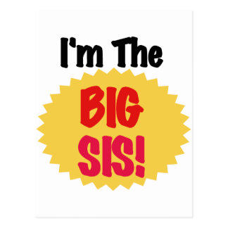 I'm The Big Sis Text Design Tshirts and Gifts Postcard