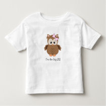 I'm the big SIS woodland owl / new big sister gift Toddler T-shirt