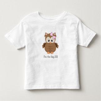 I'm the big SIS woodland owl / new big sister gift Toddler T-shirt