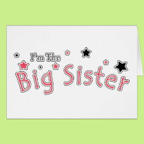 I'm The Big Sister Card