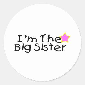 I'm The Big Sister Classic Round Sticker