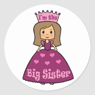 I'm the Big Sister Classic Round Sticker
