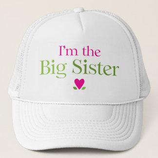 I'm the Big Sister Heart Flowers Trucker Hat