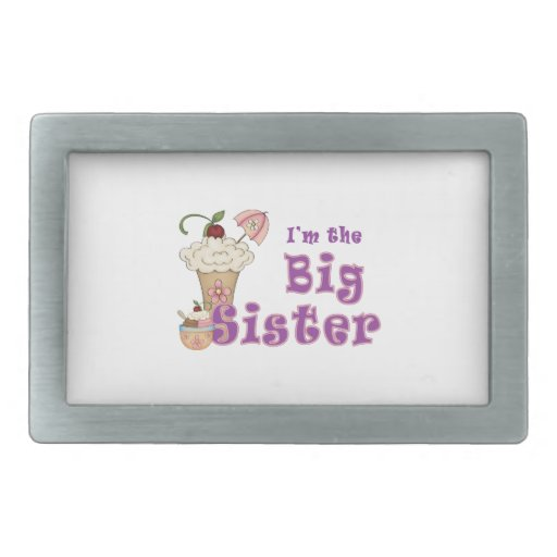I'm the Big Sister Ice Cream Belt Buckle
