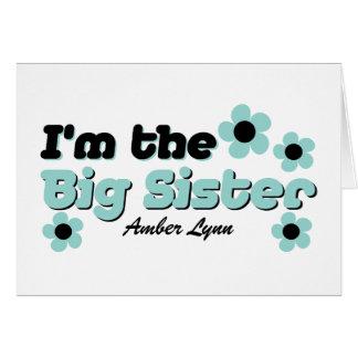I'm The Big Sister In Mint Green & Black Card
