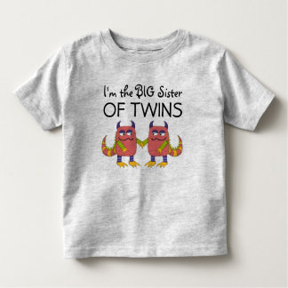 I'm the Big Sister of Twins Toddler T-shirt