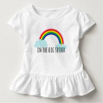 I'm The Big Sister Rainbow Toddle Tee