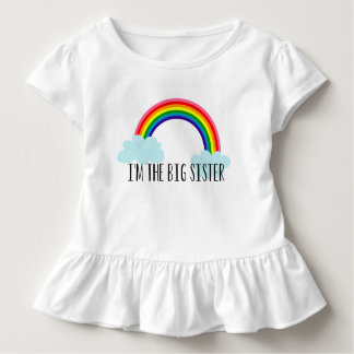 I'm The Big Sister Rainbow Toddle Tee