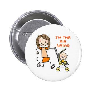 I'm the Big Sister Stick Figure Button