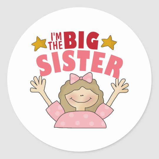 I'm The Big Sister Stickers
