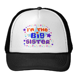 I'm the Big Sister T-shirt with Stars Trucker Hat