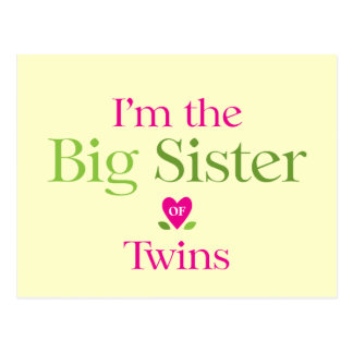 I'm the Big Sister to be Postcard