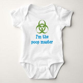 I'm the biohazard poop master baby bodysuit