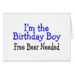 I'm The Birthday Boy Free Beer Needed Greeting Card