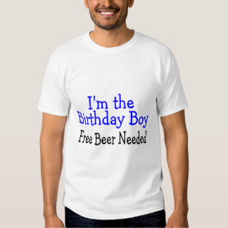 Im The Birthday Boy Free Beer Needed T Shirt