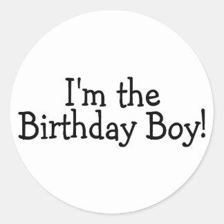 Im The Birthday Boy Classic Round Sticker