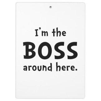Im The Boss Clipboard