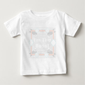 """I'm The Boss""  Easy Create Magic Design Baby T-Shirt"
