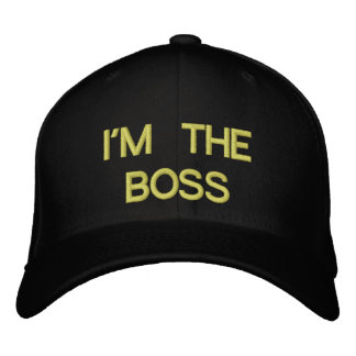 I'M THE BOSS EMBROIDERED BASEBALL CAP