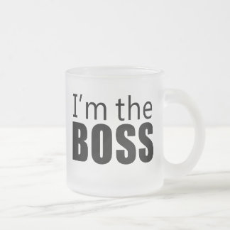 Im the Boss Frosted Glass Coffee Mug