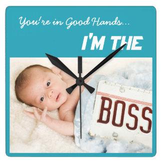 I'm the Boss, funny baby wall clock